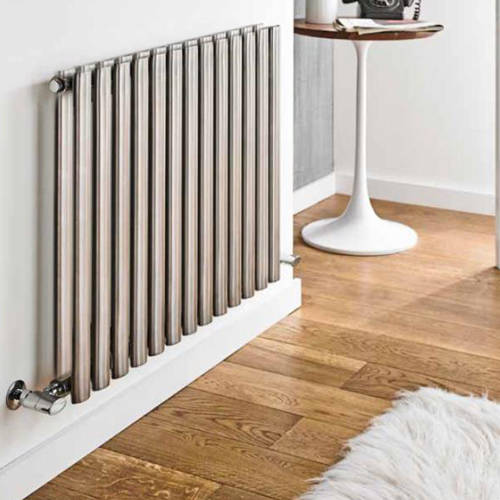 Additional image for Aspen Radiator 570W x 600H mm (Double, Stainless Steel).
