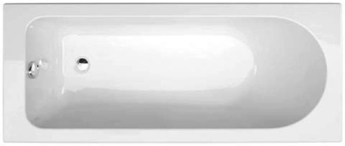 Additional image for New Life Single Ended Acrylic Bath With Legs. 1700x700mm.