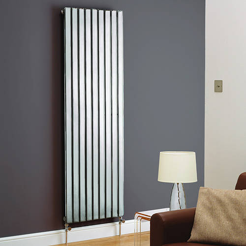 Additional image for Boston Vertical Radiator 410W x 1200H mm (Chrome).
