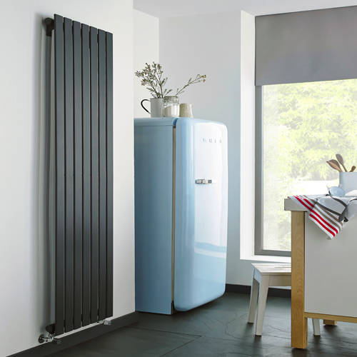Additional image for Boston Vertical Radiator 550W x 1200H mm (Anthracite).