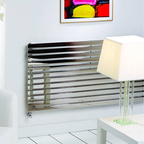Additional image for Florida Vertical Radiator 490W x 800H mm (Stainless Steel).