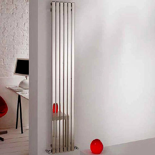 Additional image for Florida Vertical Radiator 590W x 1000H mm (Stainless Steel).