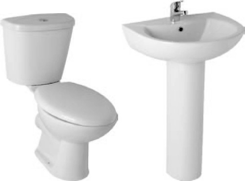 Additional image for G2 Suite With Toilet Pan. Cistern, Seat, Basin & Pedestal.
