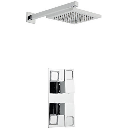 Additional image for Shower Valve, Square Head & Wall Mounting Arm (Option 2).