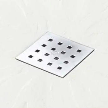 Additional image for Square Shower Tray & Chrome Waste 900x900 (White).
