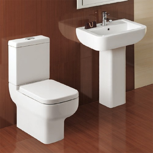 Additional image for Modern Suite With Toilet Pan. Cistern, Seat, Basin & Pedestal.