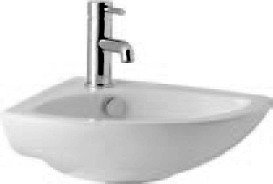 Additional image for G2 Wall Mounted 1 Tap Hole Corner Basin. 515x370mm.