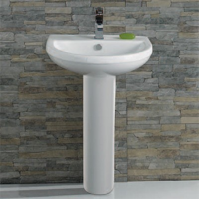 Additional image for Curved Basin With Pedestal. 510x410mm.