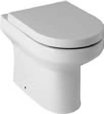Additional image for Curved Back To Wall Toilet Pan With Soft Close Seat.