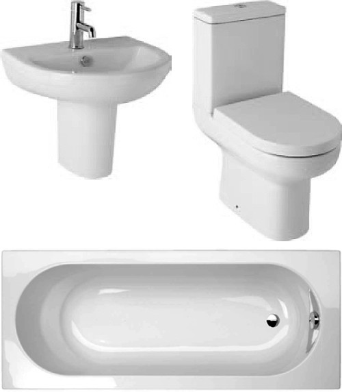 Additional image for Revive Deluxe  Suite With 1500x700mm Single Ended Acrylic Bath.
