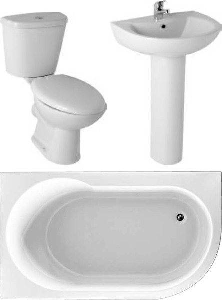 Additional image for Serena Bathroom Suite With 1550x900mm Corner Bath (Left Handed).