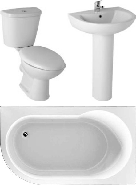Additional image for Serena Bathroom Suite With 1550x900mm Corner Bath (Right Handed).