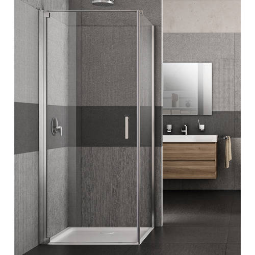 Additional image for Vivo Shower Enclosure With Pivot Door (900x700x2000mm, LH).