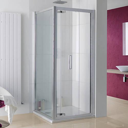 Additional image for Bergen Shower Enclosure With Bi-Fold Door (700x800x2000).