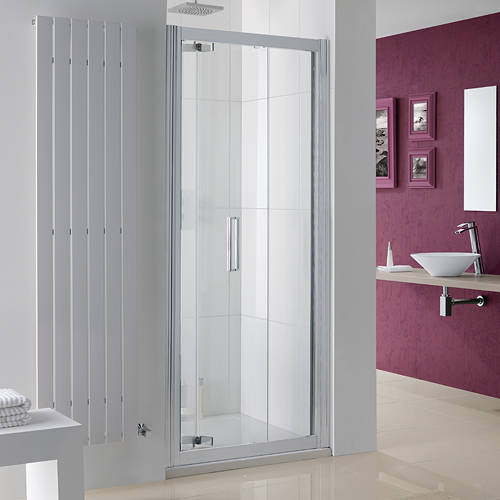 Additional image for Bergen Bi-Fold Shower Door With 8mm Glass (900x2000mm).