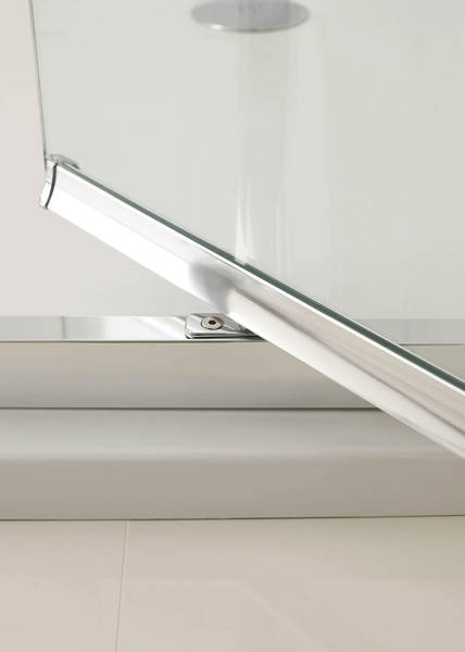 Additional image for Narva Pivot Shower Door With 8mm Glass (1000x2000mm)