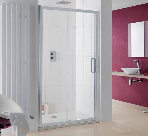 Additional image for Talsi Slider Shower Door With 8mm Glass (1000x2000).