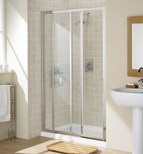 Additional image for 1000mm Framed Slider Shower Door (Silver).