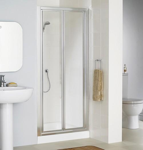 Additional image for 800mm Framed Bi-Fold Shower Door (Silver).