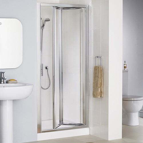 Additional image for 900mm Framed Bi-Fold Shower Door (Silver).