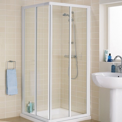 Additional image for 800mm Square Shower Enclosure & Tray (White).