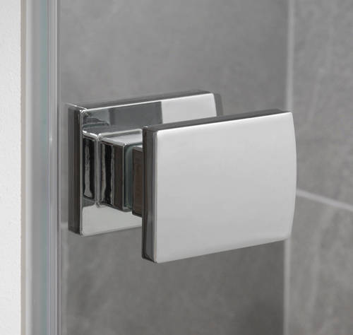 Additional image for Barbados Frameless Hinged Shower Door (900x2000mm).