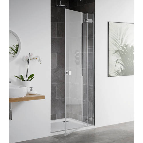 Additional image for Barbados Frameless Hinged Shower Door (1000x2000mm).