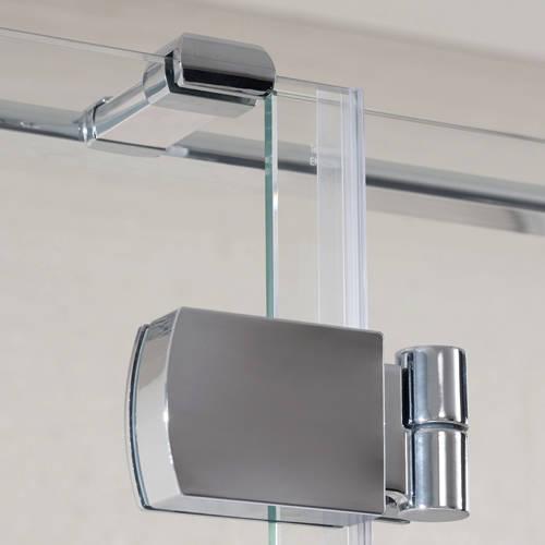 Additional image for Tobago Frameless Shower Enclosure 1400x1000x2000