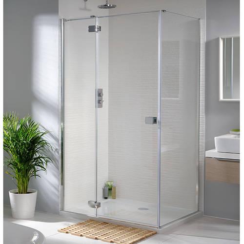 Additional image for Tobago Frameless Shower Enclosure (1600x700x2000)
