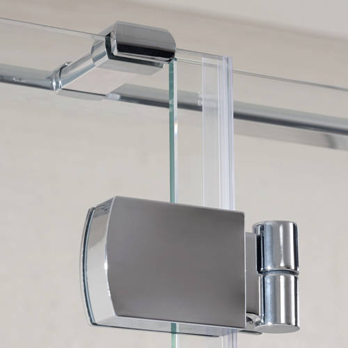 Additional image for Tobago Frameless Shower Enclosure (1600x800x2000)
