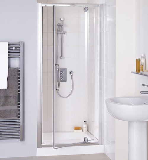 Additional image for 1000mm Semi-Frameless Pivot Shower Door (Silver).