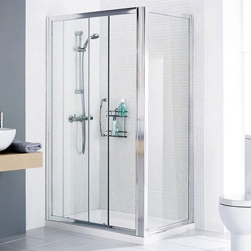 Additional image for 1200x800 Shower Enclosure, Slider Door & Tray (Right Handed).