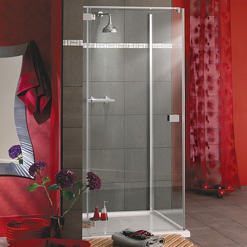 Additional image for Frameless Square Shower Enclosure & Tray. Left Handed. 900mm.