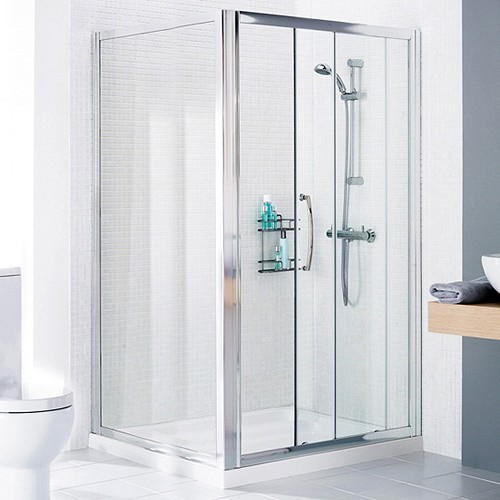 Additional image for 1000mm Square Shower Enclosure & Tray (Left Handed).
