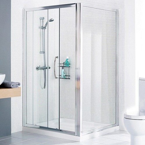 Additional image for 1000mm Square Shower Enclosure & Tray (Right Handed).