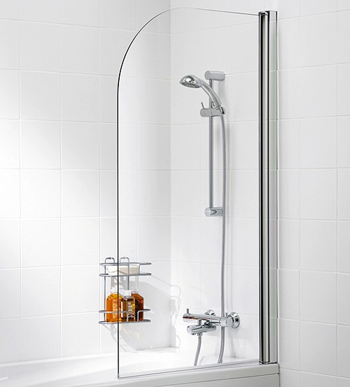 Additional image for 800x1400 Curved Bath Screen (Silver).