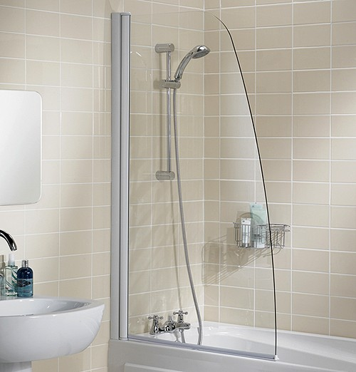 Additional image for 860x1400 Sculpted Bath Screen (Silver).