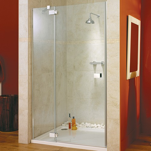 Additional image for Hinged Shower Door & Glass Panel. Left Hand. 1400x1950mm.