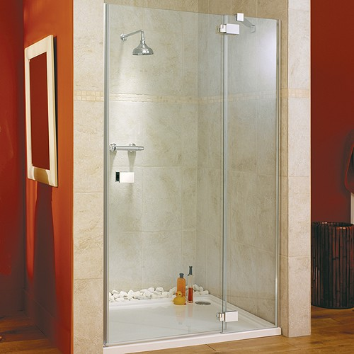 Hinged Shower Door Amp Glass Panel Right Hand 1400x1950mm