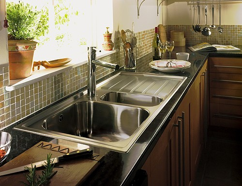 1 5 Bowl Stainless Steel Sink Right Hand Drainer