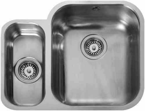 Additional image for Undermount 1.5 Bowl Steel Sink, Left Hand Bowl.