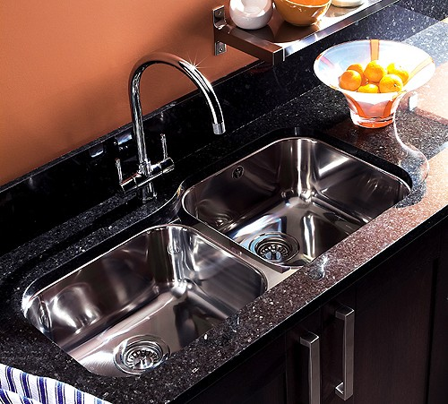 Additional image for Undermount 1.75 Bowl Steel Sink, Left Hand Bowl.