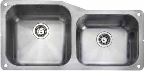 Additional image for Undermount 1.75 Bowl Steel Sink, Right Hand Bowl.