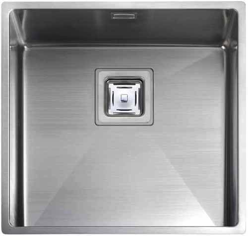 Additional image for Undermount 1.0 Bowl Square Steel Kitchen Sink.