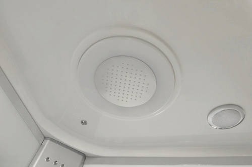 Additional image for Corner Steam Shower Whirlpool Bath Enclosure 1350x1350.