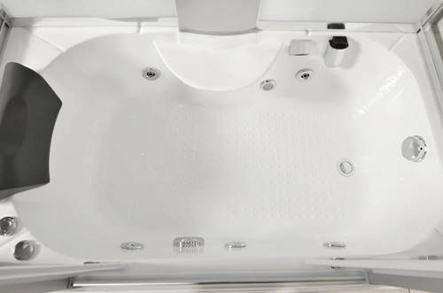 Additional image for Steam Shower Whirlpool Bath Enclosure 1350x800mm.