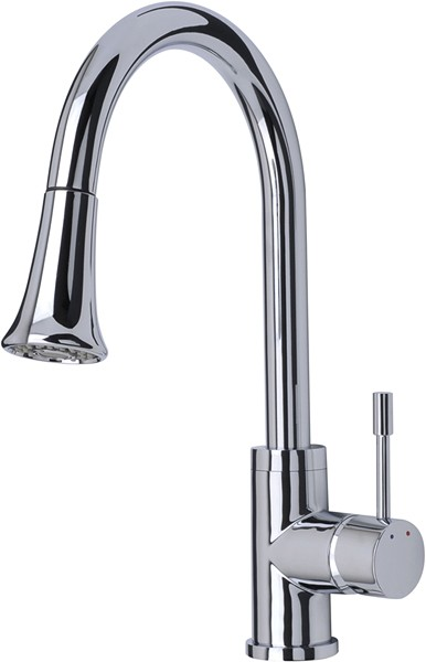 Additional image for Shine Kitchen Tap, Multi Mode Pull Out Rinser (Chrome).