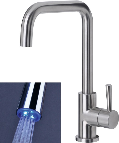 Additional image for Melo Glo Kitchen Tap With LED Spout Lights (Stainless Steel).