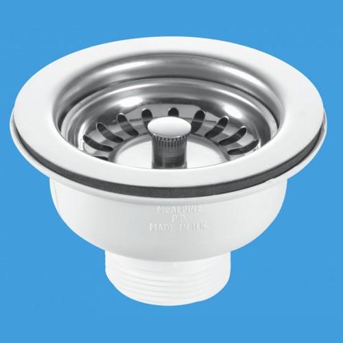 1 1 2 Quot X 113mm Flange Basket Strainer Sink Waste Mcalpine