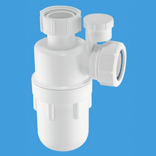"Additional image for 1 1/2"" x 75mm Water Seal Bottle Trap & Anti-Syphon."